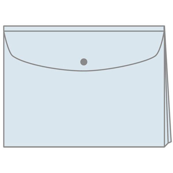 プラス エンベロープ マチ付横 FL121CH クリア10枚 (直送品)