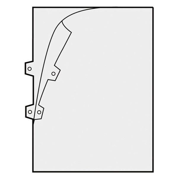 プラス クリアーホルダー パンチ穴付 FL-159HO CL 10枚 (直送品)