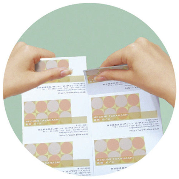 プラス 名刺用紙キリッと両面 A4中厚 10枚 MC-K701 2冊 (直送品)