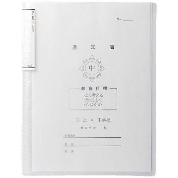 リヒトラブ クリヤーブック 乳白 10冊 N-7110-1-10 1セット (直送品)