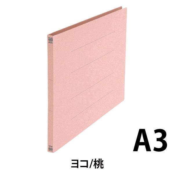 プラス フラットファイル A3E 桃 10冊 NO.002N10PK (直送品)