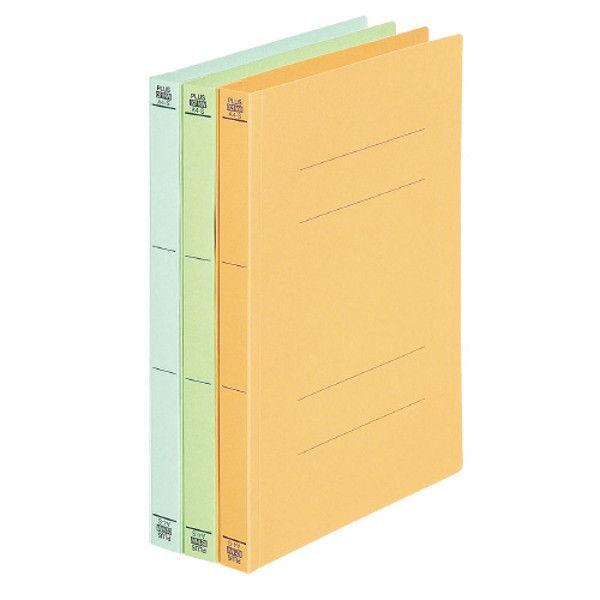 プラス フラットファイル A4S 緑 10冊 NO.021NW10GR (直送品)