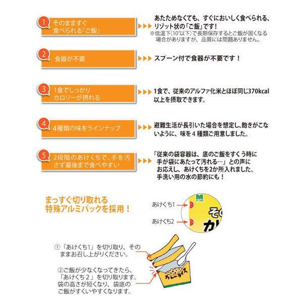ミドリ安全 保存食 そのままご飯 カレーライス 290G×30袋入 4082126355 (直送品)