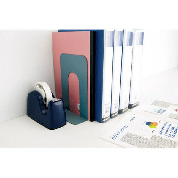 プラス テープカッター ネイビー 5台 TC-301 1セット(直送品)