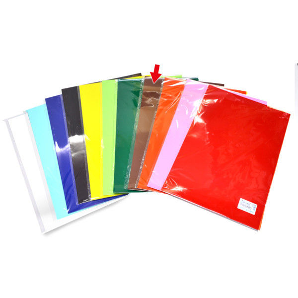 ササガワ 艶紙 茶 31-105 100枚(10枚袋入×10冊袋入) (取寄品)