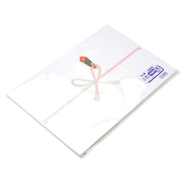 ササガワ のし紙 半紙判 祝 山 3-405 500枚(100枚袋入×5冊包) (取寄品)