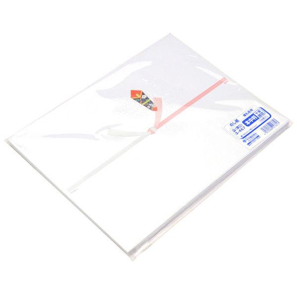 ササガワ タカ印 のし紙 本中判 十本結切 山 3-467 500枚(100枚袋入×5冊包) (取寄品)