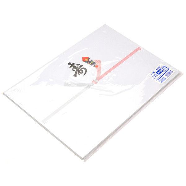 ササガワ タカ印 のし紙 B4判 十本結切 黒寿入 山 3-474 500枚(100枚袋入×5冊包) (取寄品)