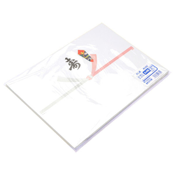 ササガワ タカ印 のし紙 A4判 十本結切 黒寿入 山 3-476 500枚(100枚袋入×5冊包) (取寄品)