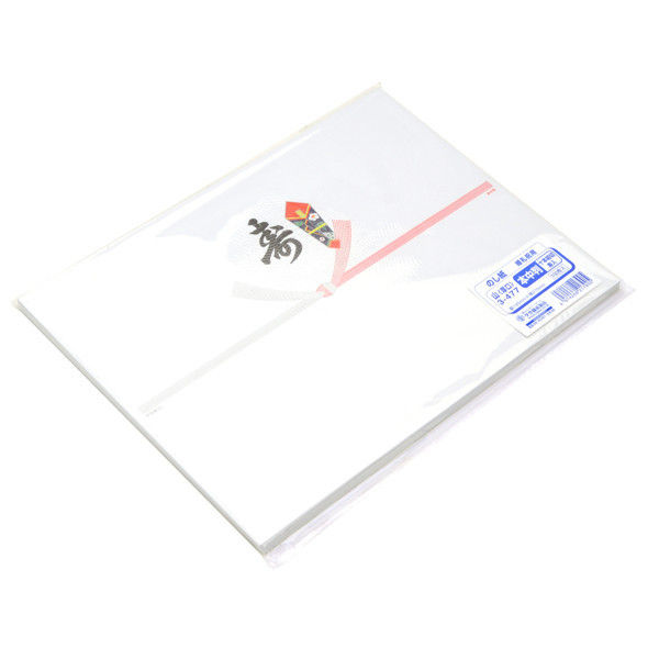 ササガワ タカ印 のし紙 本中判 十本結切 黒寿入 山 3-477 500枚(100枚袋入×5冊包) (取寄品)