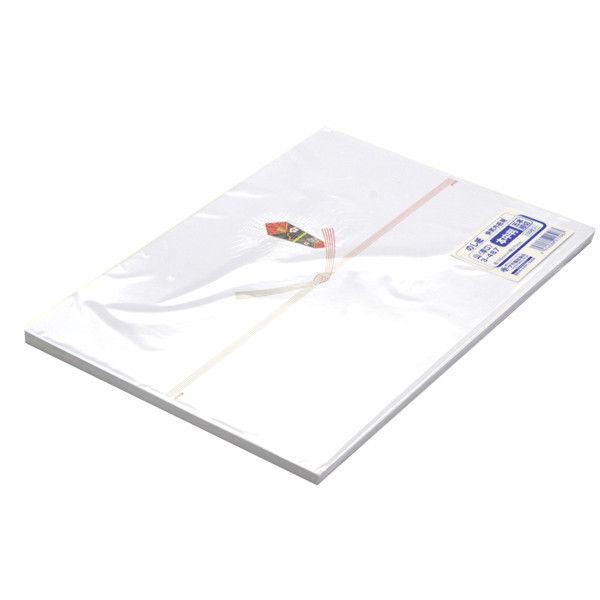 ササガワ のし紙 本中判 五本結切 山 3-487 500枚(100枚袋入×5冊包) (取寄品)