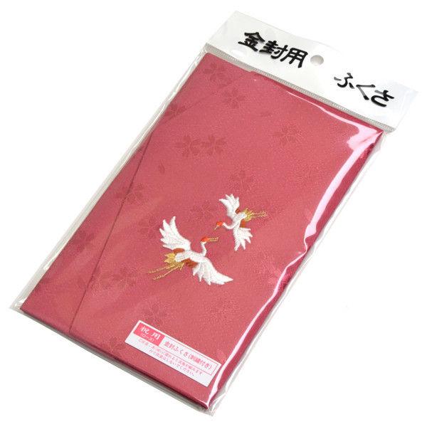 ササガワ タカ印 金封ふくさ 刺繍 祝用 ローズ 44-1230 5枚(1枚袋入×5枚箱入) (取寄品)
