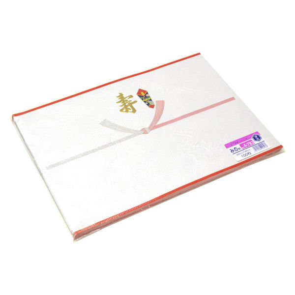 ササガワ のし紙 みの判 天地赤染浮出 金寿入 4-783 500枚(100枚袋入×5冊包) (取寄品)