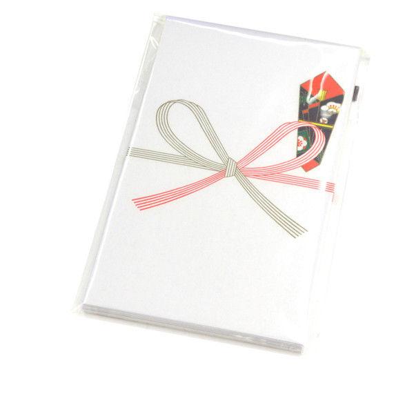 ササガワ タカ印 のし袋 五型 祝 無字 仙貨紙 5-1107 300枚(10枚袋入×30冊箱入) (取寄品)