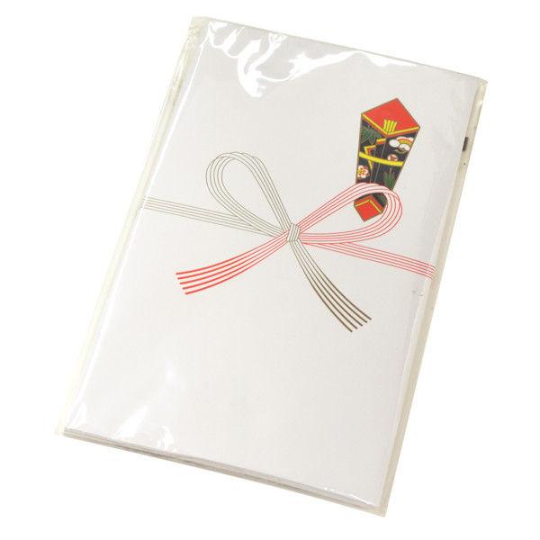 ササガワ タカ印 のし袋 特万型 祝 無字 上質紙 5-1010 200枚(10枚袋入×20冊箱入) (取寄品)