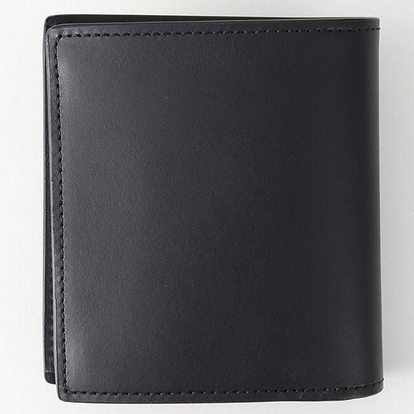 無印 ヌメ革コインポケット付二つ折り財布