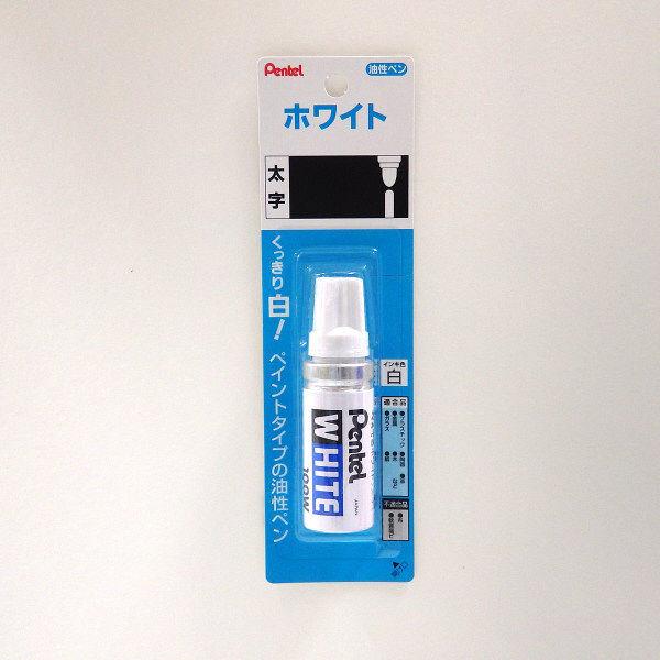 ぺんてる ホワイト 太字 白 X100-WD 1セット(5本:1本×5)