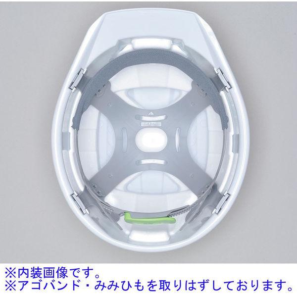 DICプラスチック ABS製ヘルメット A07-WV 大型ベンチレーション/ライナーK8/内装HA1 白/ブルーカバー 1個 (直送品)