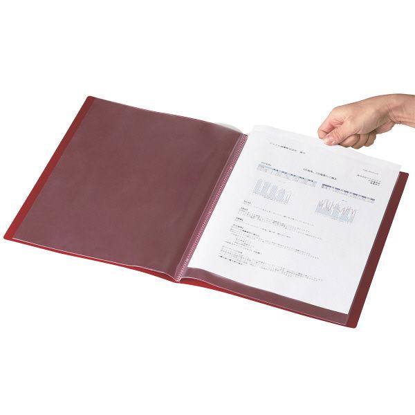 クリアファイル A4 10P 10冊 赤