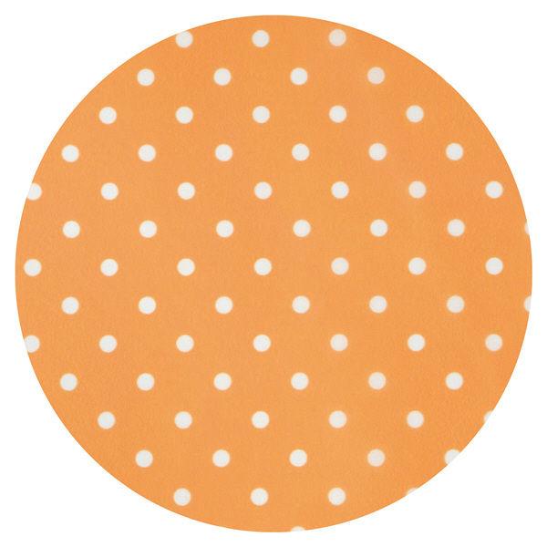 食事用エプロン 水玉柄 オレンジ