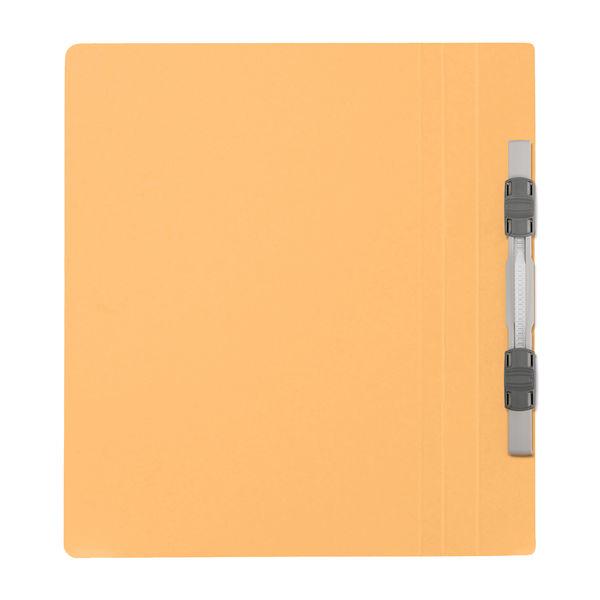 プラス フラットファイル樹脂製とじ具 A5タテ イエロー No.041N 10冊
