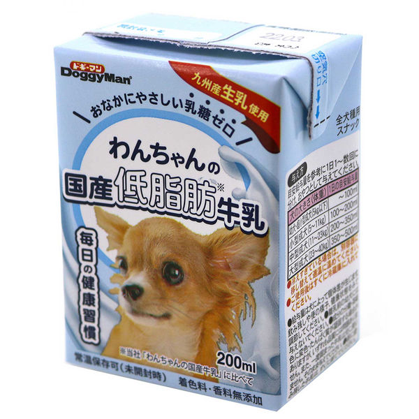 ドギーマンわんちゃんの国産低脂肪牛乳×3