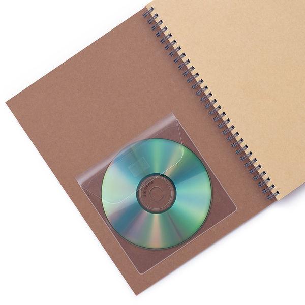 カール事務器 粘着ポケット CDポケット CL-91 10袋(60枚入)(直送品)