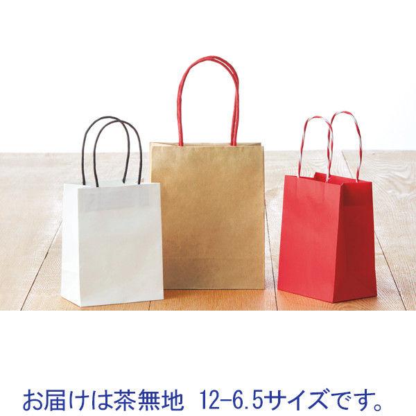 プチ紙手提げ袋 茶 12-6.5 10枚