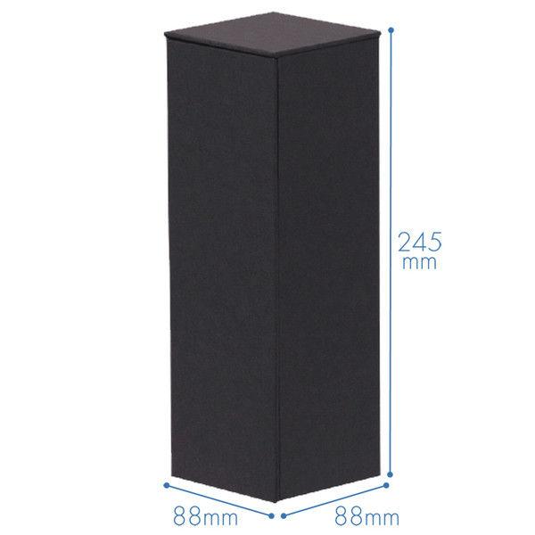 ナカバヤシ ライフスタイルツール ボックスM ブラック 黒 LST-B02BK 1セット(3個:1個×3)
