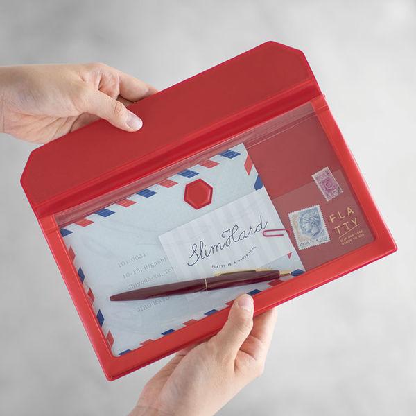 FLATTY 封筒サイズ 赤