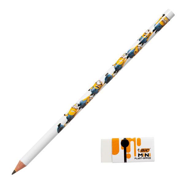 ミニオンズ HB鉛筆+消しゴム付