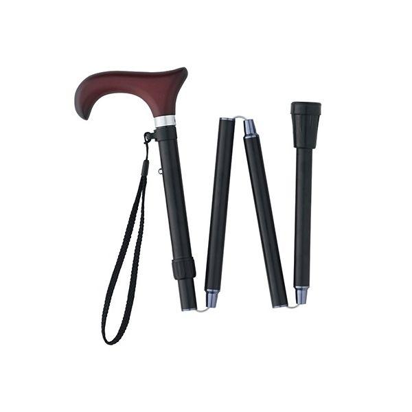 カインドウェア(KINDWARE) 折りたたみ杖 ブラックL CH233703A06 1本 7-1982-02(直送品)