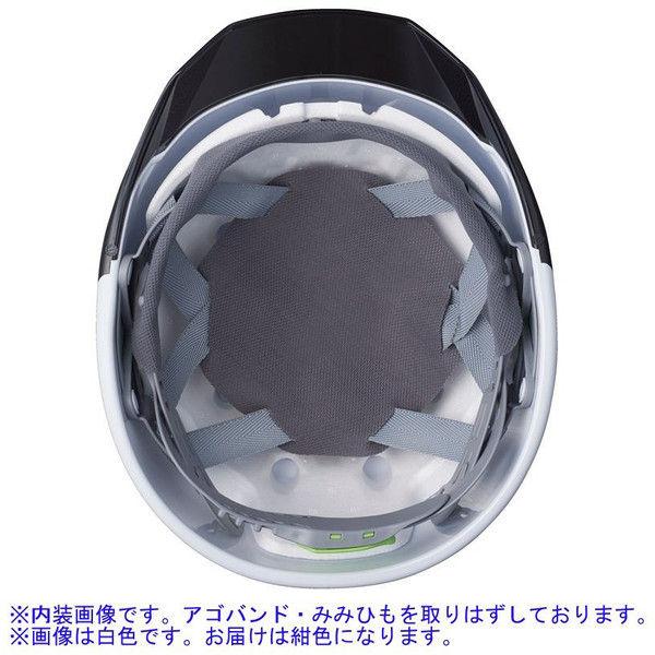 DICプラスチック ABS製ヘルメット AA11EVO-CSW 大型ベンチレーション/ライナーA11・シールド付/内装HA6 紺/スモーク 1個 (直送品)