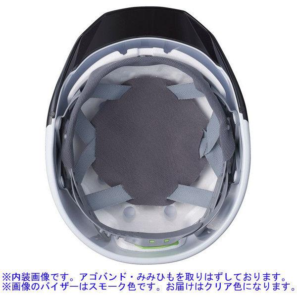 DICプラスチック ABS製ヘルメット AA11EVO-CSW 大型ベンチレーション/ライナーA11・シールド付/内装HA6 白/クリア 1個 (直送品)