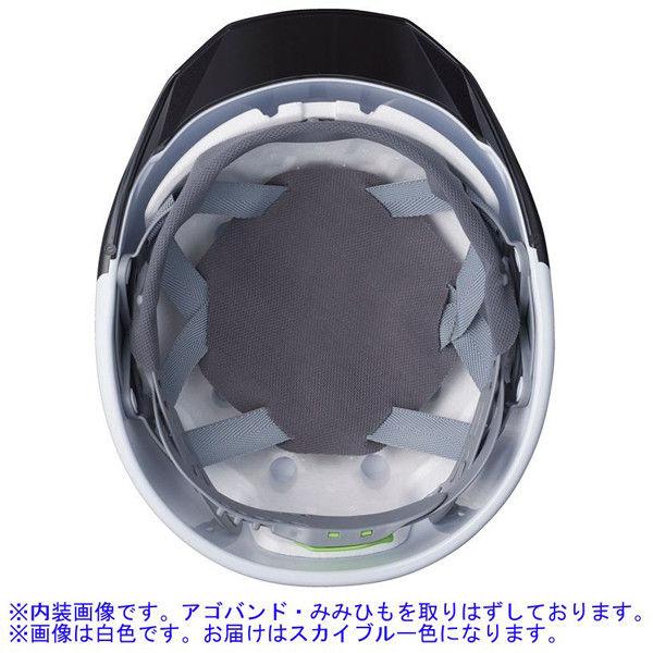 DICプラスチックABS製ヘルメット AA11EVO-CS 通気孔無/ライナー・シールド付/内装HA6 ヒートバリア 遮熱スカイブルー/スモーク 1個(直送品)