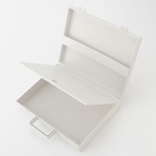 無印良品 自立収納できるキャリーケース・A4用・ホワイトグレー
