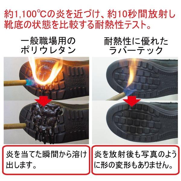 ミドリ安全 消防仕様 静電作業靴 ラバーテック RT541F Pー4CAP 静電 28.0cm 1足(直送品)