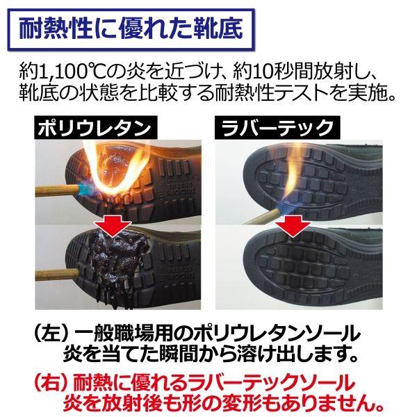 ミドリ安全 ラバーテック 紳士靴 RT1310 ブラック 24.0cm 1足(直送品)