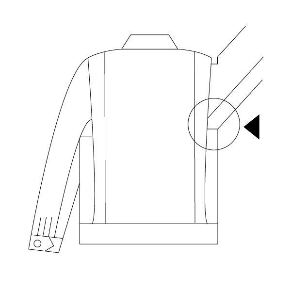 ミドリ安全 綿2つポケットジャンパー M6070 上 ブロンズ L 1着(直送品)