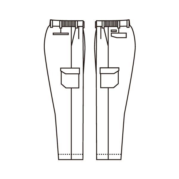 ミドリ安全 エコ帯電防止 男子カーゴスラックス RC580C 下 ベージュ S 1着(直送品)