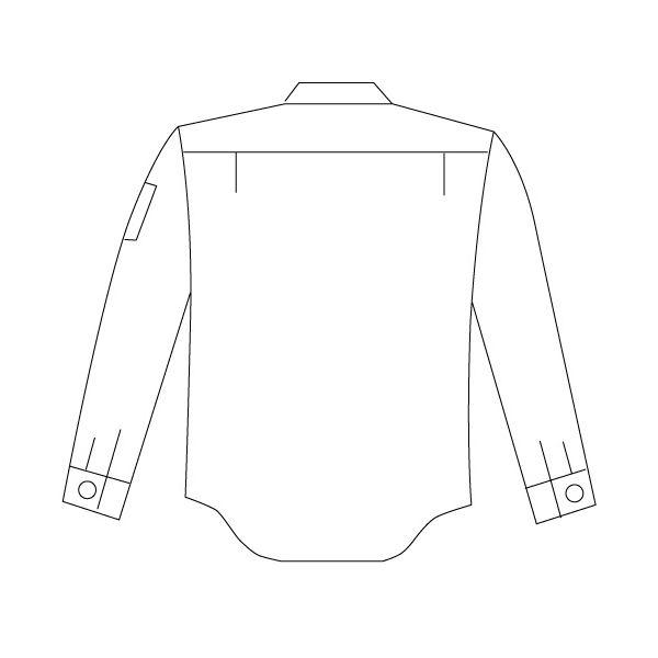 ミドリ安全 男女ペア長袖シャツ GS2571 上 シルバーグレー 5L 1着(直送品)