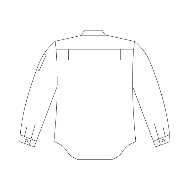 ミドリ安全 男子長袖シャツ GS2150N 上 ベージュ M  1着(直送品)