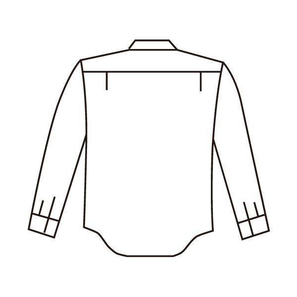 ミドリ安全 エコ帯電防止 男女ペア長袖シャツ RCS2590 上 ベージュ 4L 1着(直送品)
