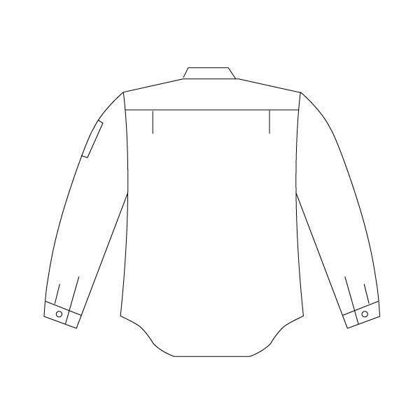ミドリ安全 男子長袖シャツ GS2150N 上 ベージュ LL  1着(直送品)