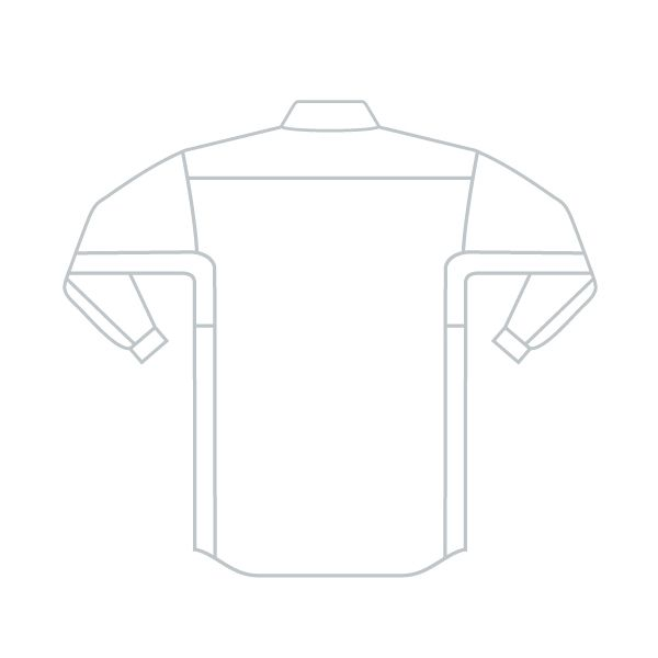 ミドリ安全 ベルデクセルフレックス 男女兼用長袖シャツ VES261上 シルバーグレー L 1着(直送品)