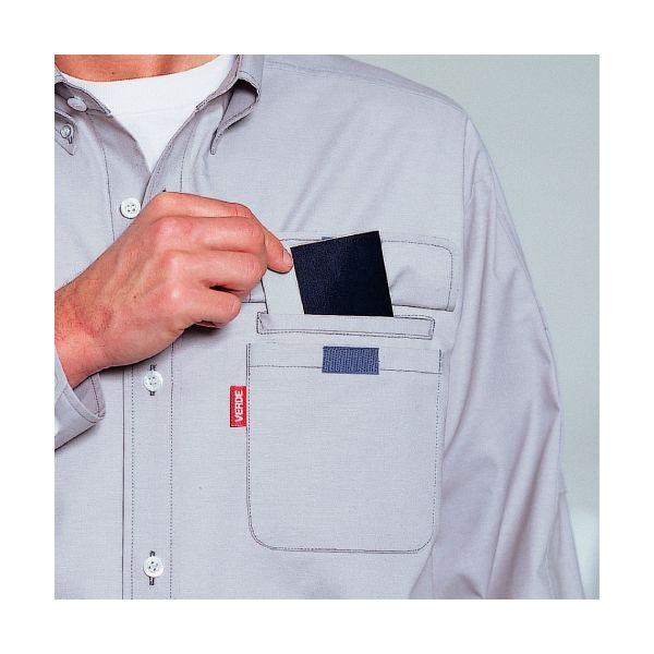 ミドリ安全 ペア長袖カラーシャツ RCS2313 上 ブルー LL 1着(直送品)