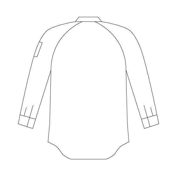 ミドリ安全 ペア長袖シャツ GS2491 上 シルバーグレー LL 1着(直送品)