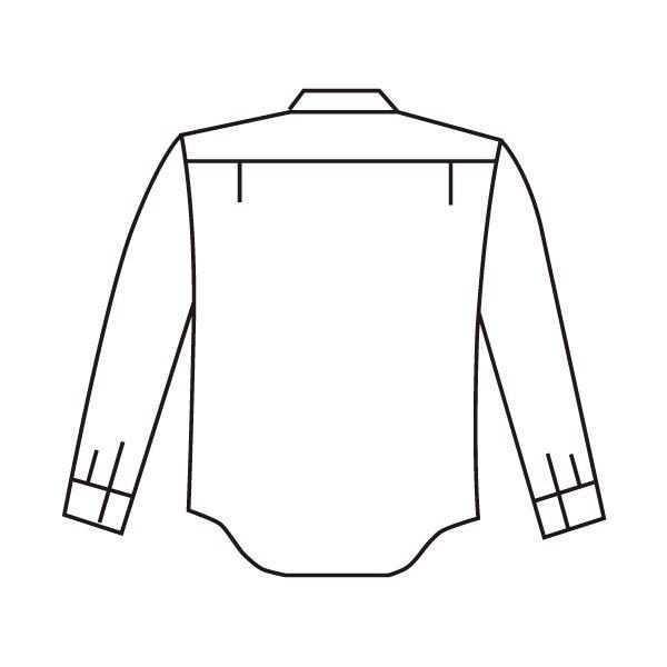 ミドリ安全 エコ帯電防止 男女ペア長袖シャツ RCS2590 上 ベージュ 5L 1着(直送品)