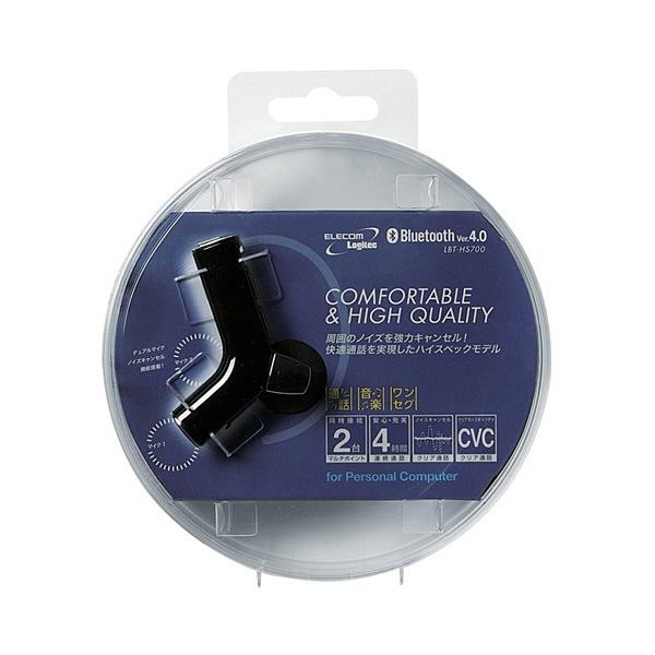 ロジテック Bluetooth ヘッドセット ブラック LBT-PCHS700BK (直送品)