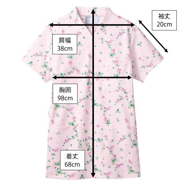 住商モンブラン スクラブジャケット 男女兼用 半袖 ピンク S 72-610 (直送品)